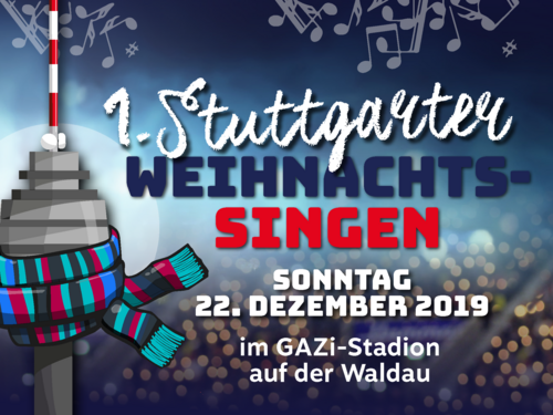 Premiere | Weihnachtssingen am 22. Dezember im Fußball-Stadion